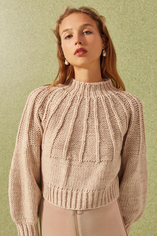 BE AROUND KNIT JUMPER bone