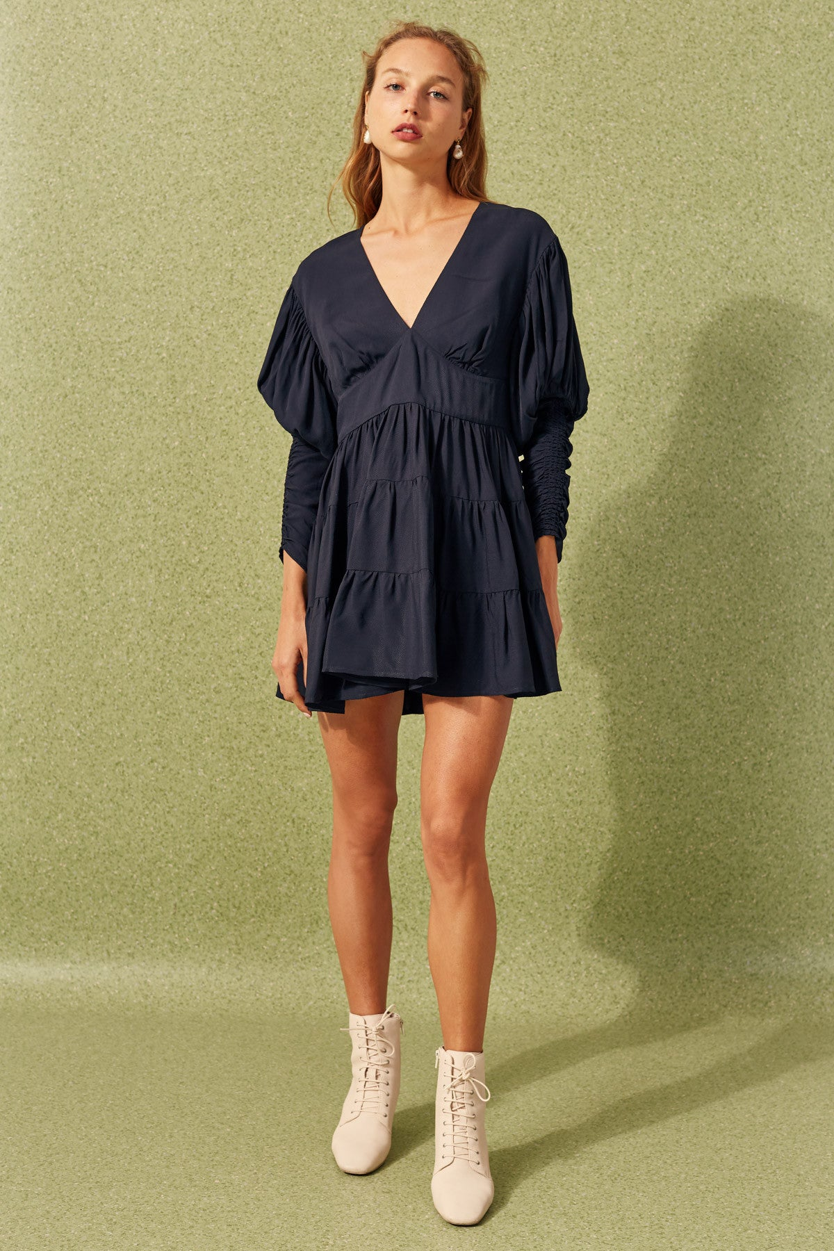 PUBLICITY LONG SLEEVE DRESS navy