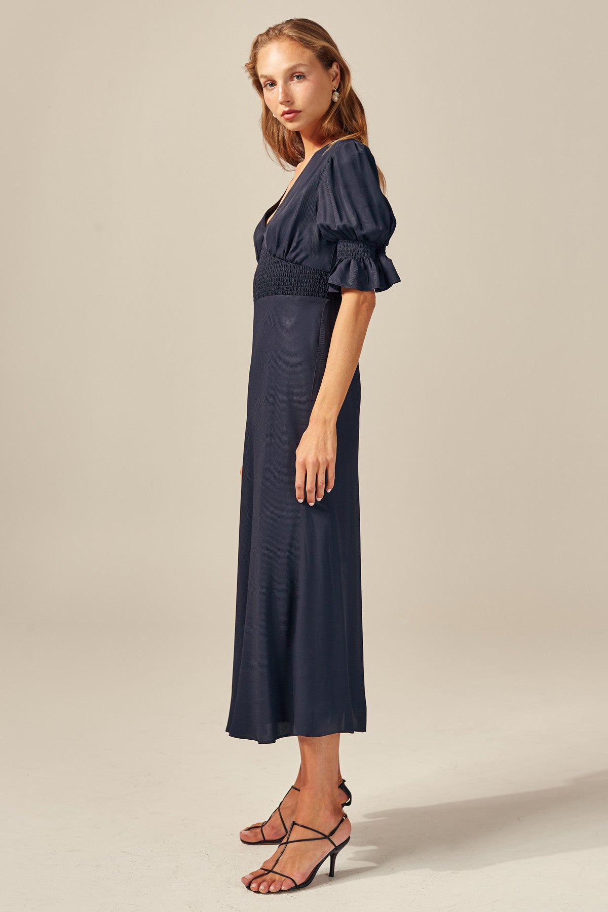PUBLICITY SHORT SLEEVE DRESS navy