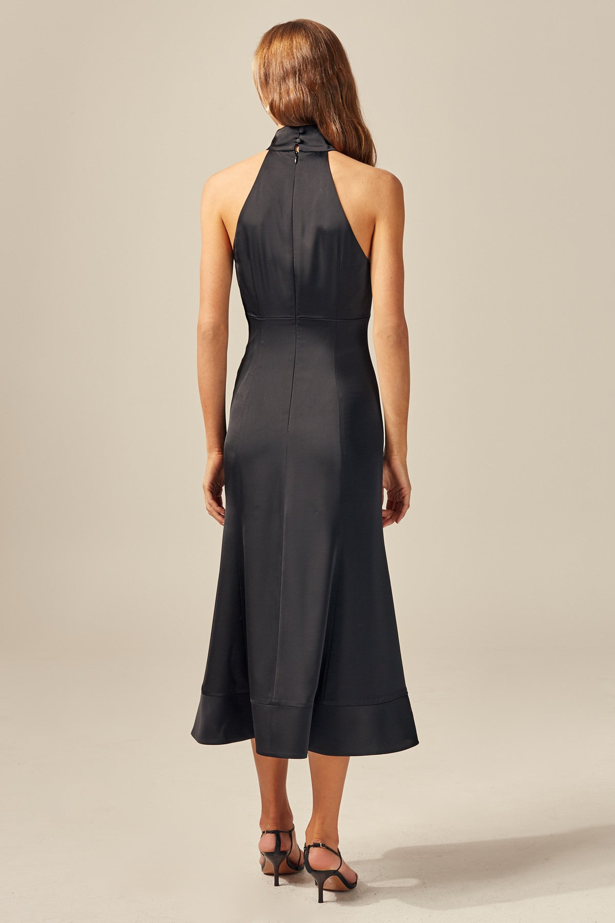 PROVIDED MIDI DRESS black