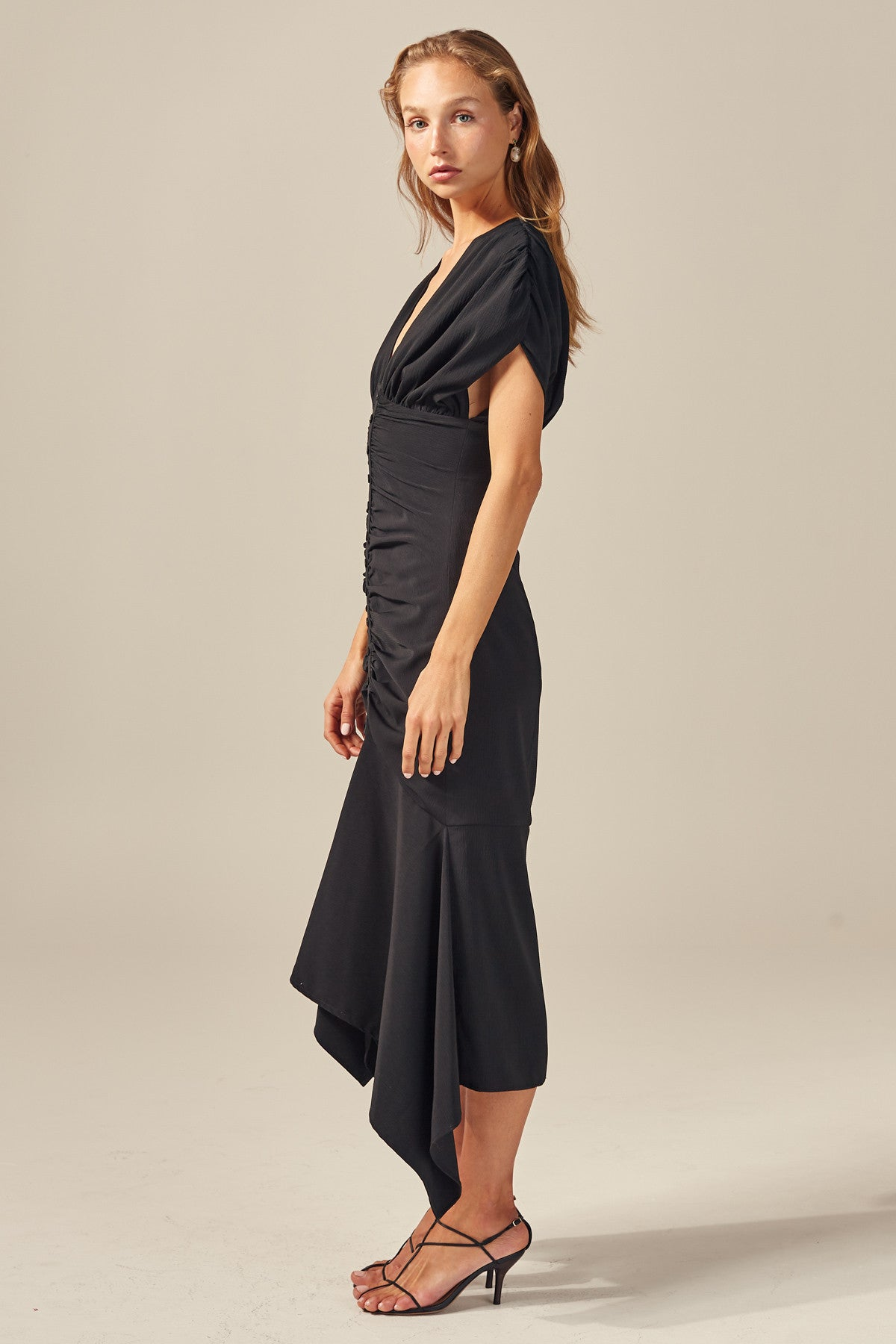 EXPIRED MIDI DRESS black
