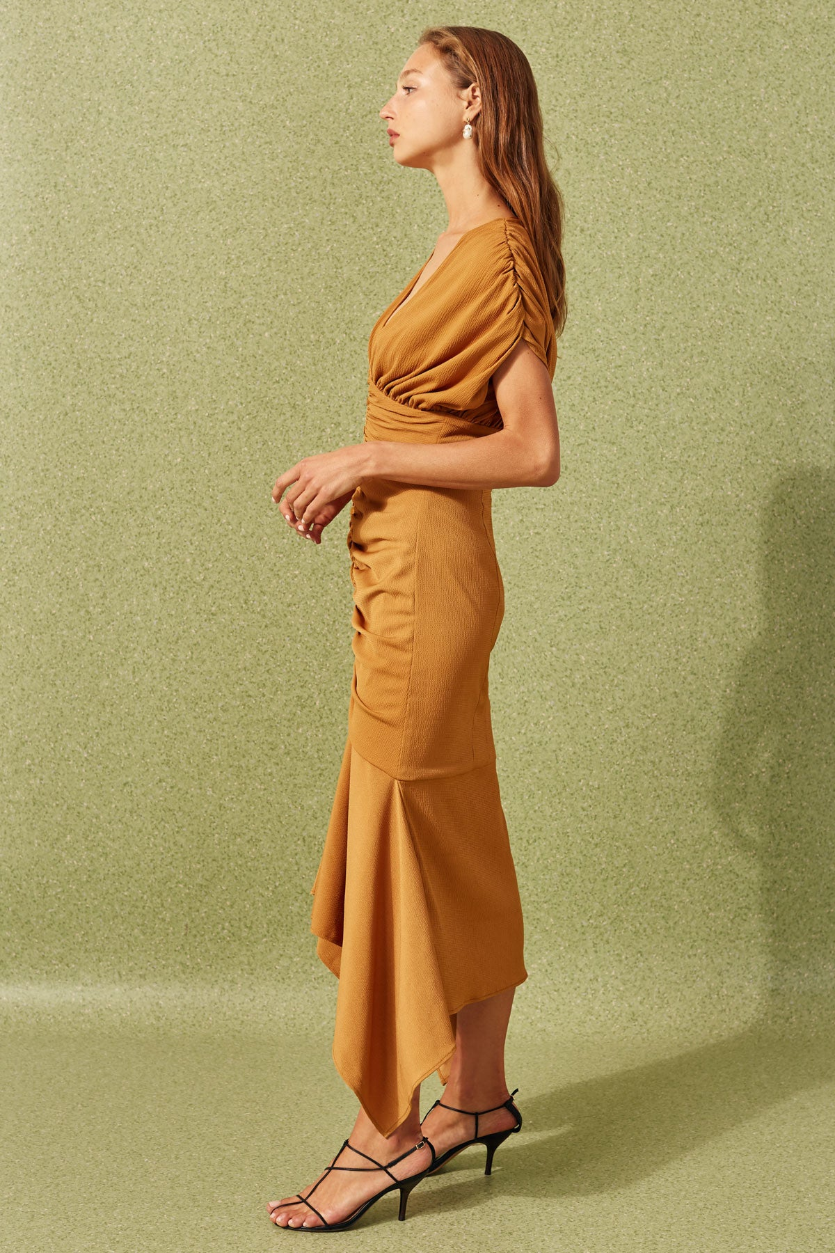 EXPIRED MIDI DRESS ochre