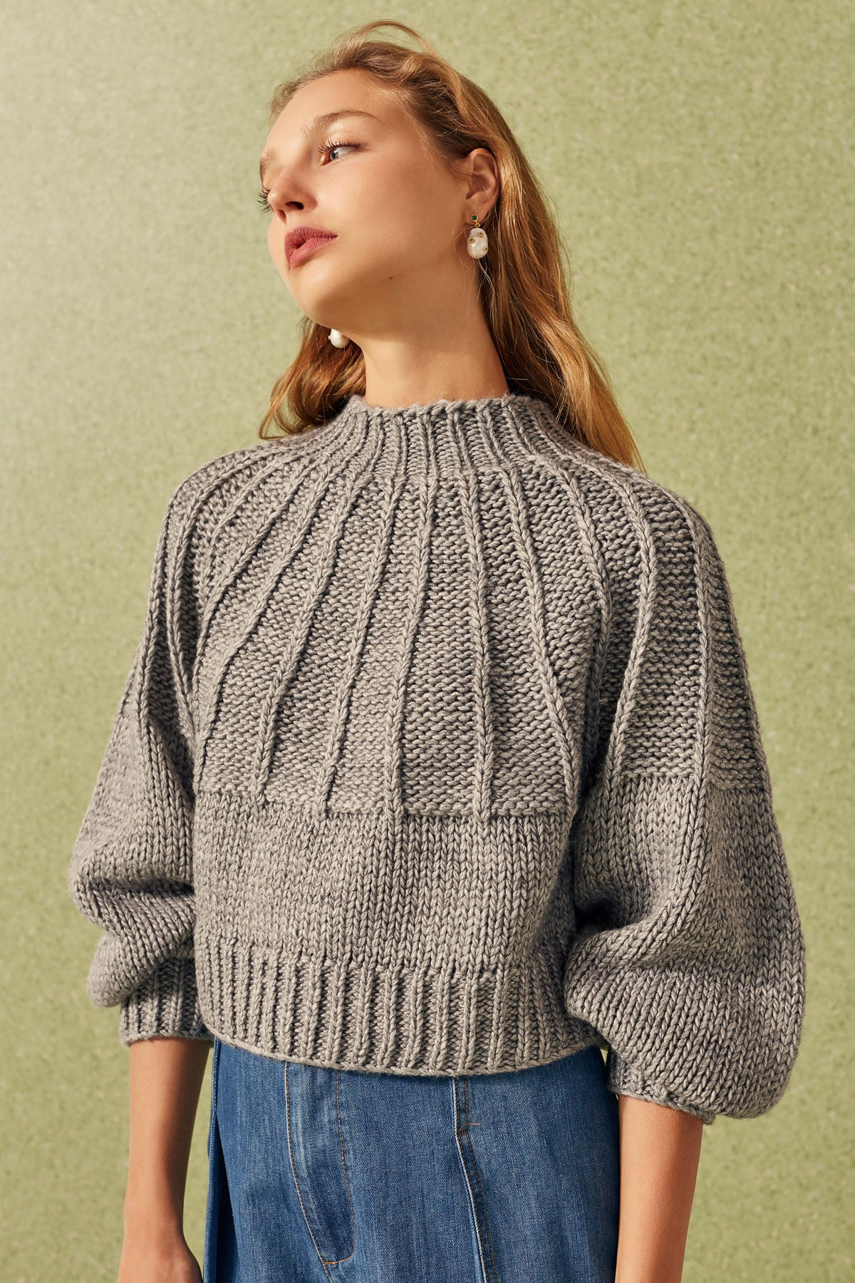BE AROUND KNIT JUMPER grey