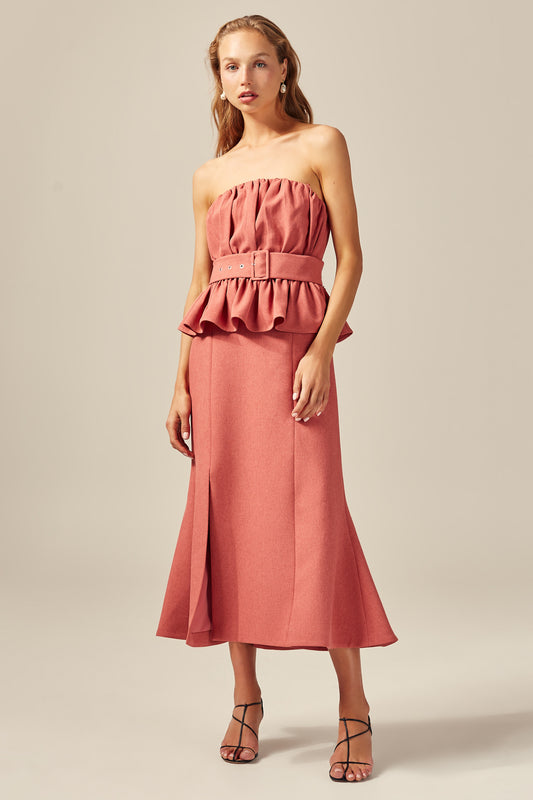 MODE MIDI DRESS rose
