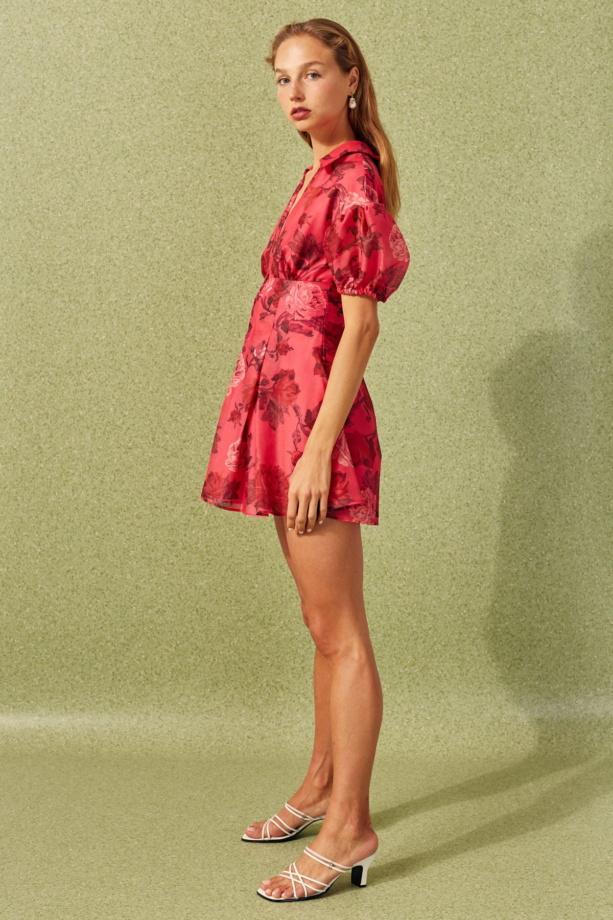VARIATION SHORT SLEEVE MINI DRESS hot pink rose