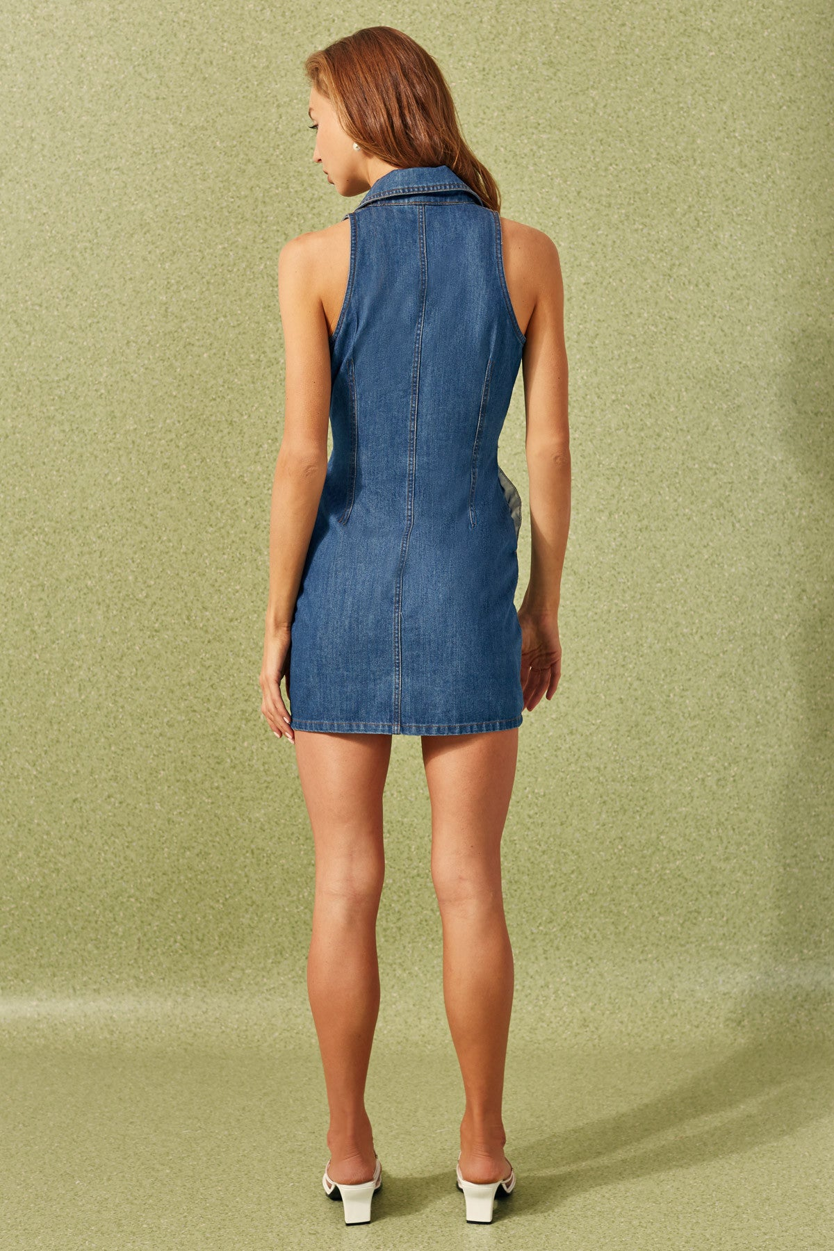 PROCESS DRESS blue denim