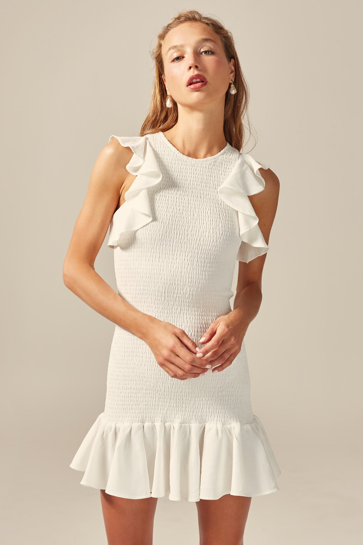7af2daf9162b C/MEO COLLECTIVE   EXPIRED MINI DRESS ivory   C/MEO COLLECTIVE