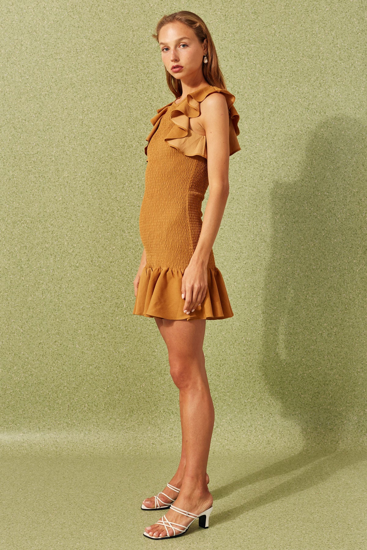 EXPIRED MINI DRESS ochre