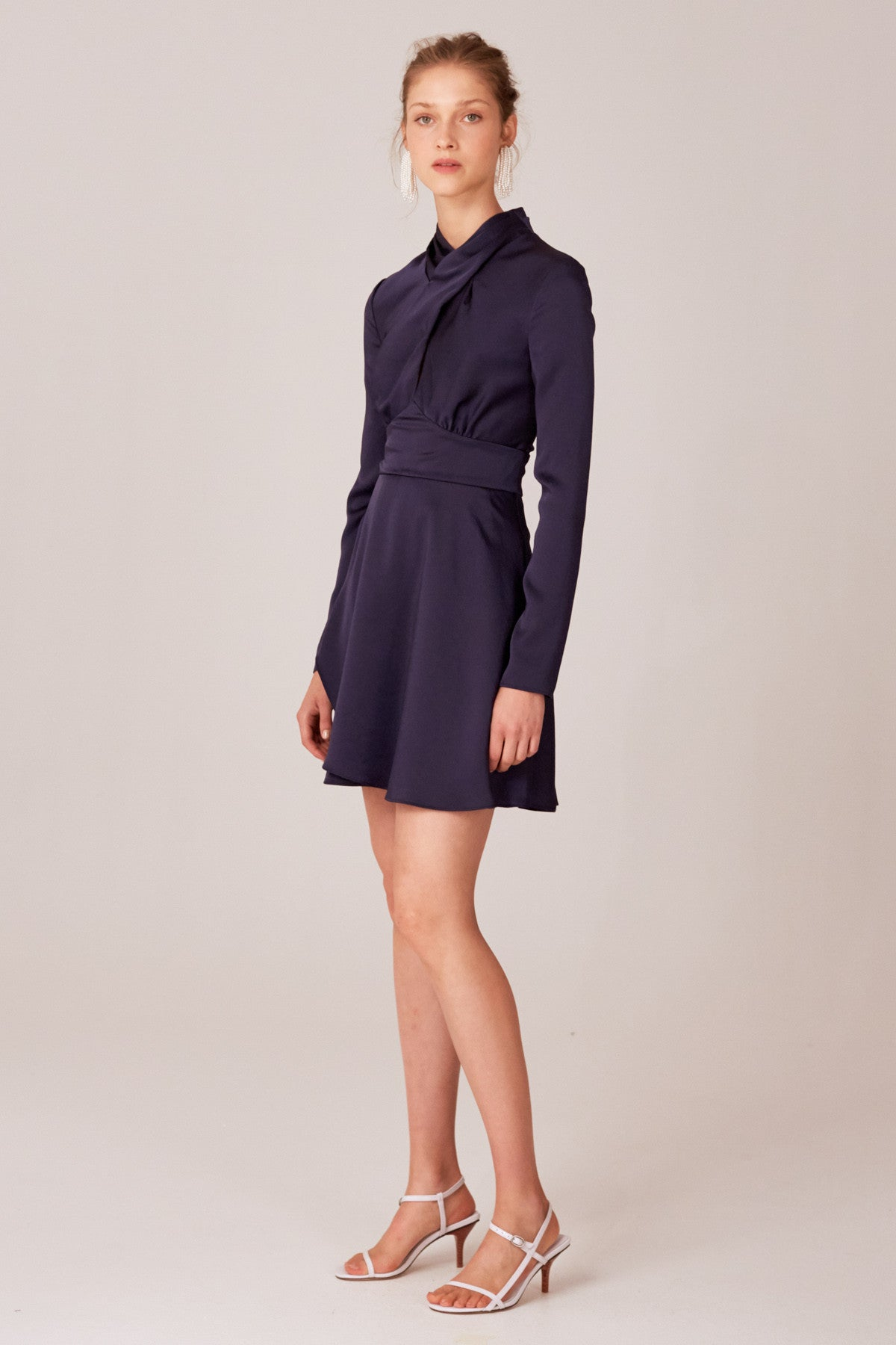 LATE THOUGHTS MINI DRESS navy