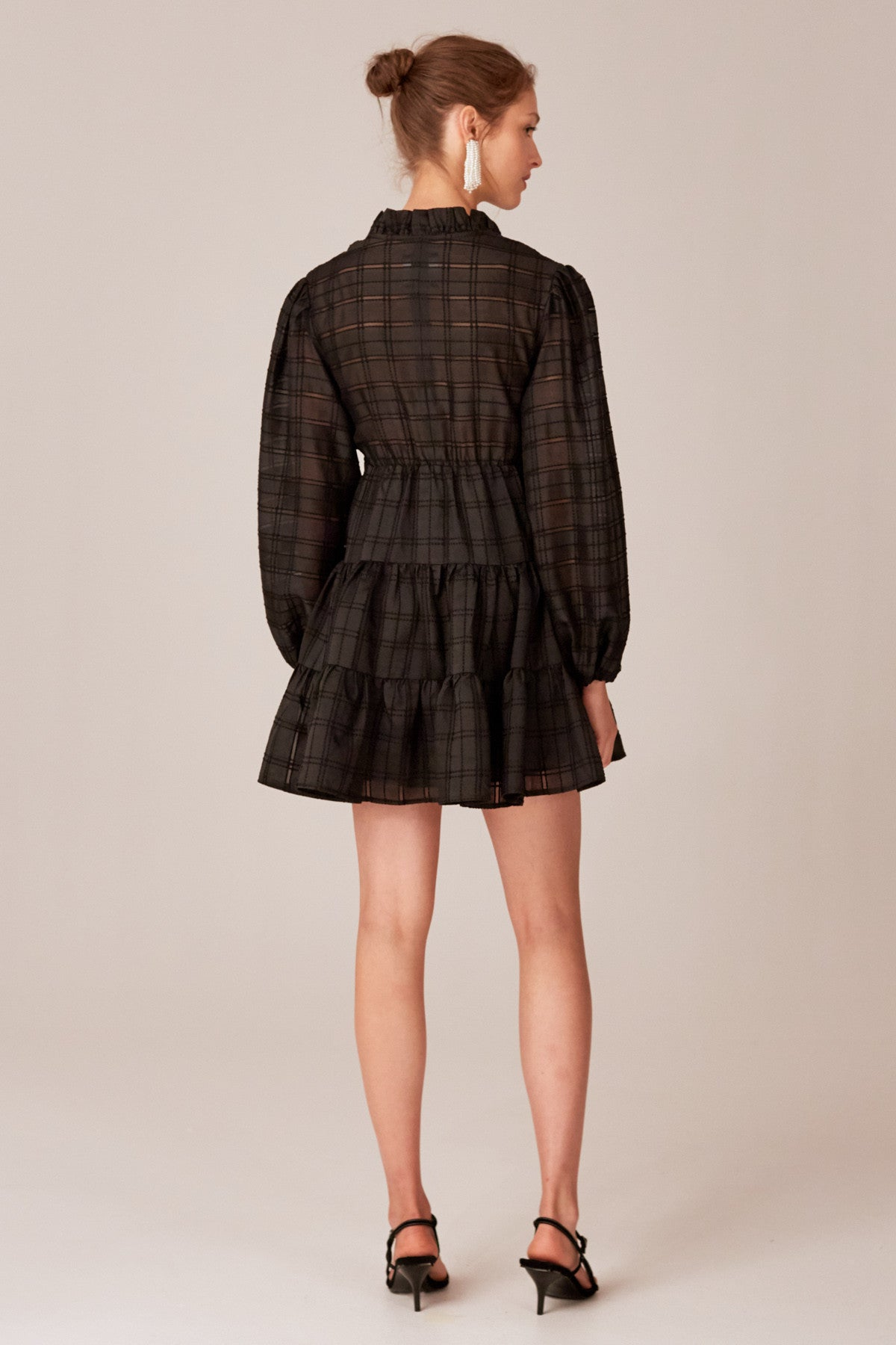 REFRESH MINI DRESS black check