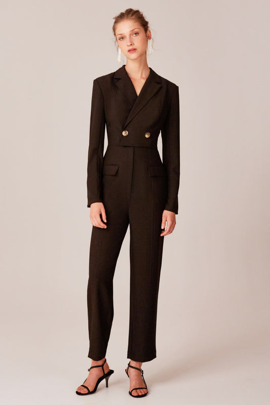 ACCEPTING LONG SLEEVE JUMPSUIT black