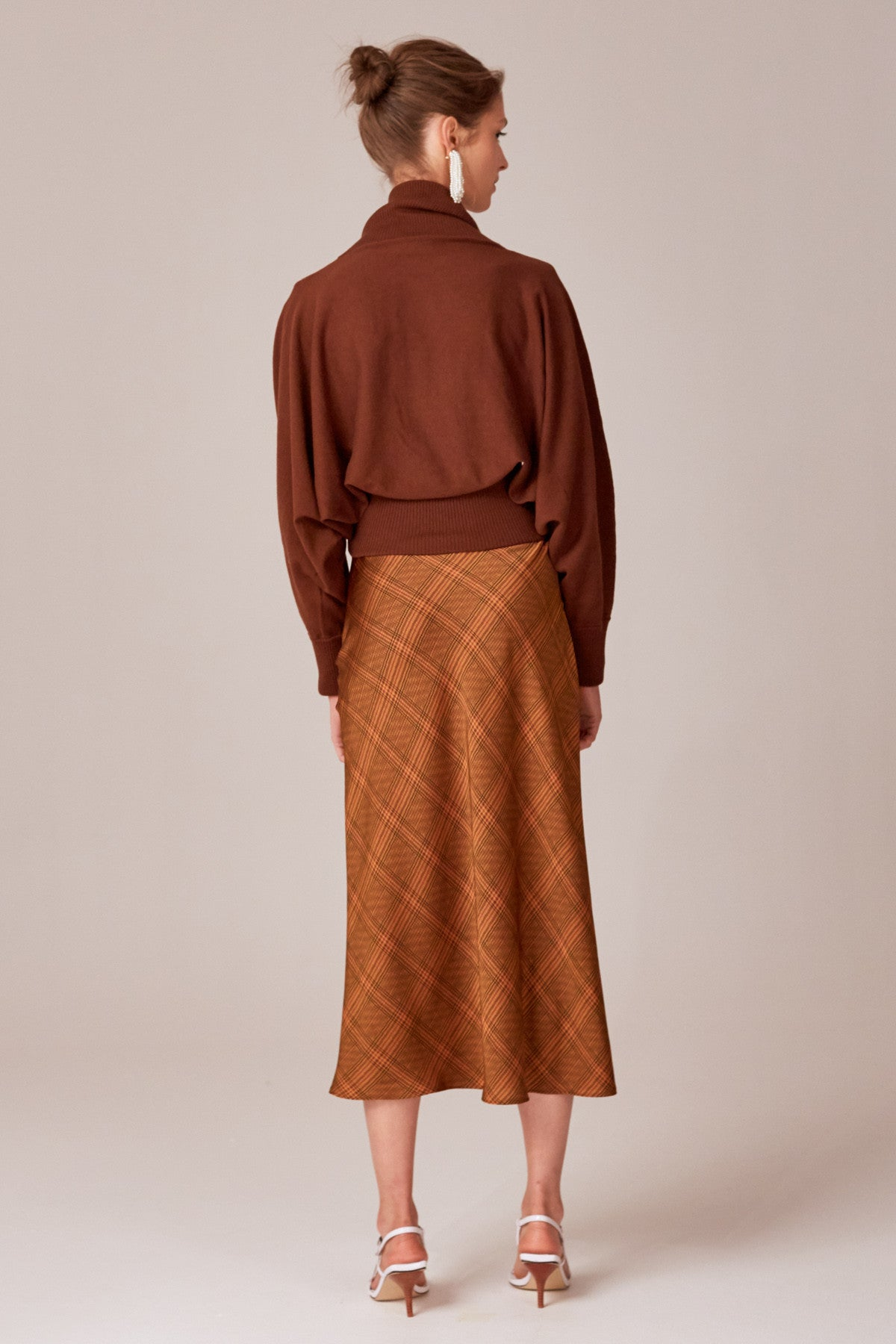 AS WE WENT KNIT TOP brown