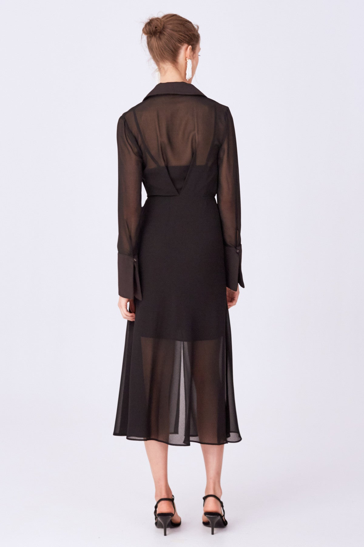 TRY AGAIN MIDI DRESS black