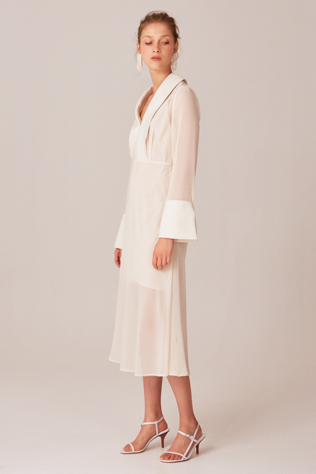 TRY AGAIN MIDI DRESS cream