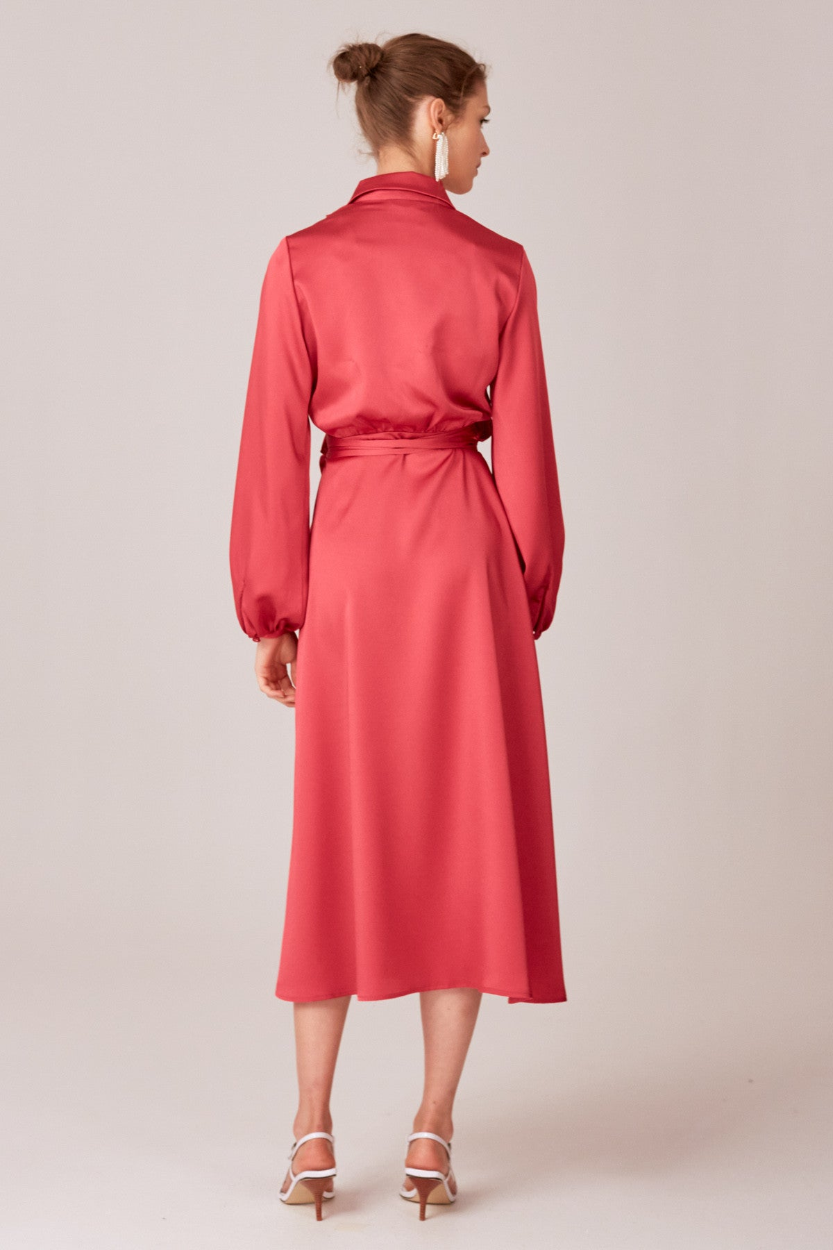 LATE THOUGHTS MIDI DRESS fuchsia