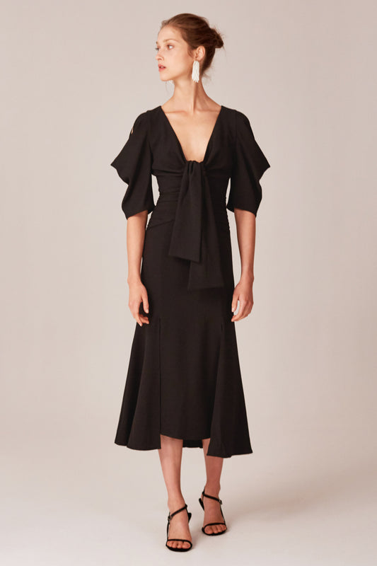 WILLING MIDI DRESS black