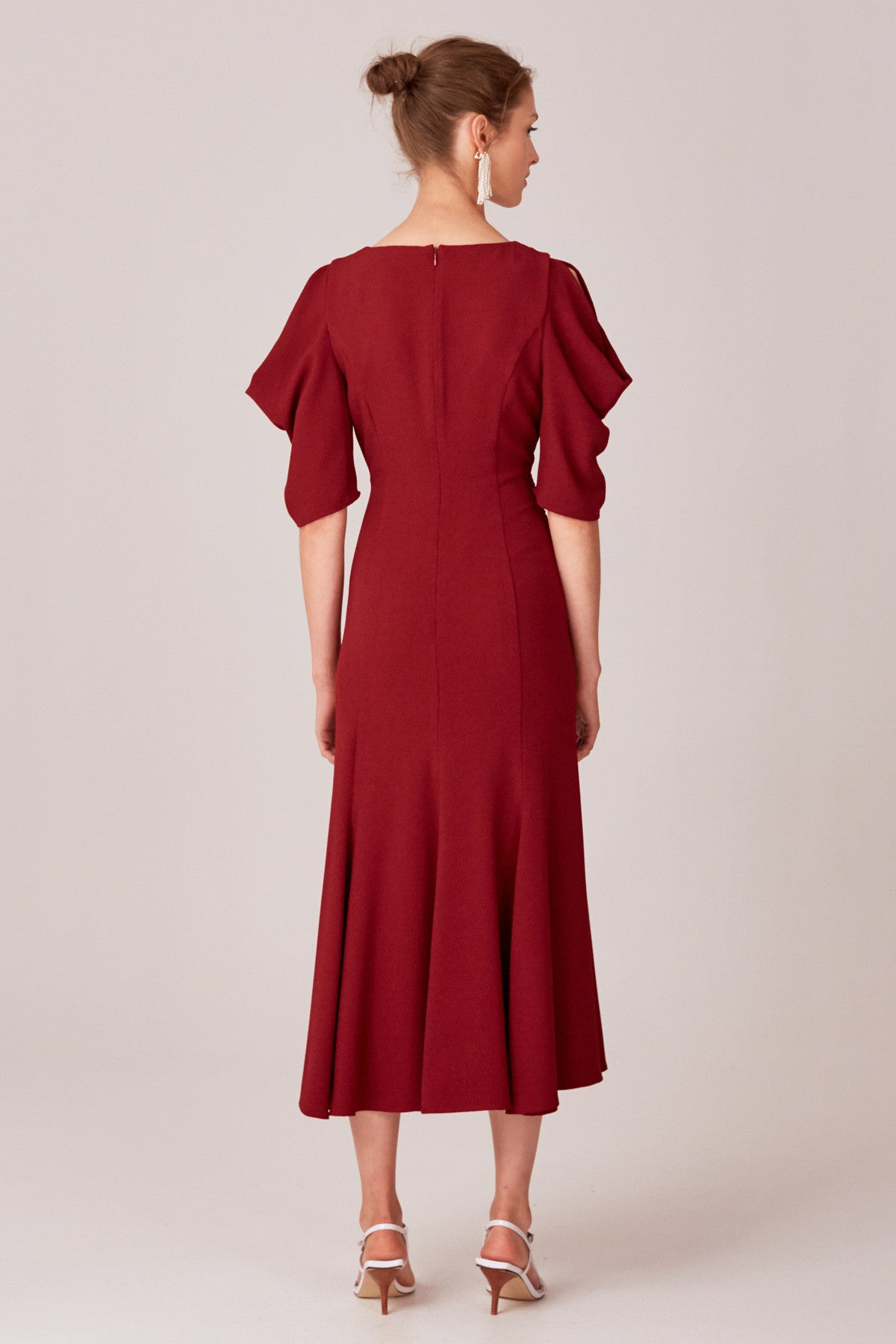 WILLING MIDI DRESS berry