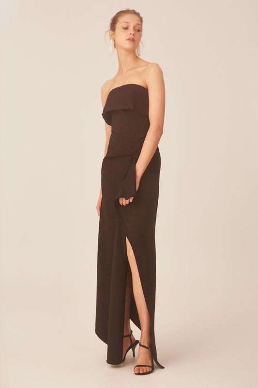 DISCRETION GOWN black