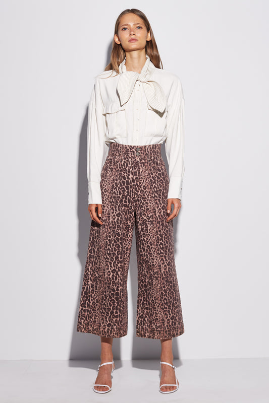 REITERATE JEAN brown leopard
