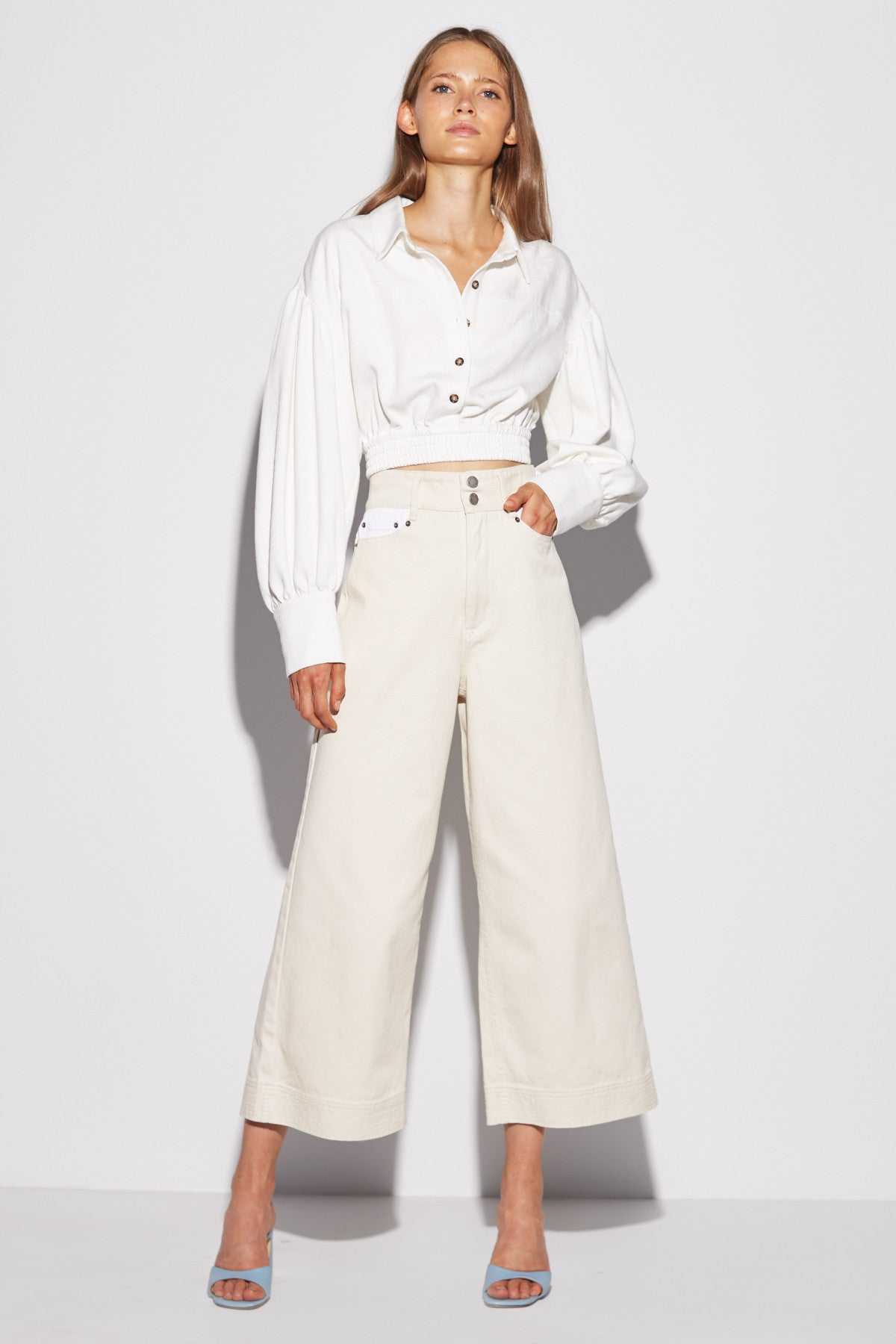 REITERATE JEAN chalk w white