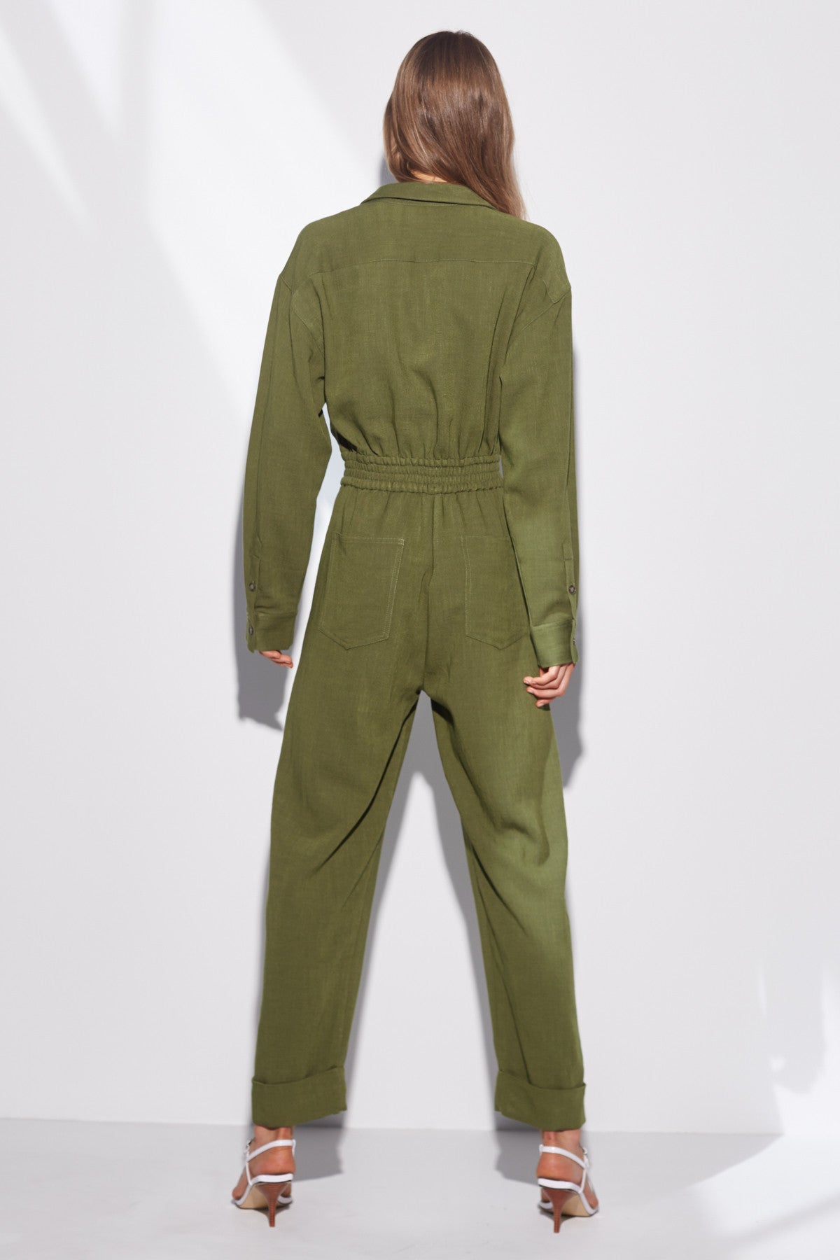 CLEAN SLATE JUMPSUIT moss
