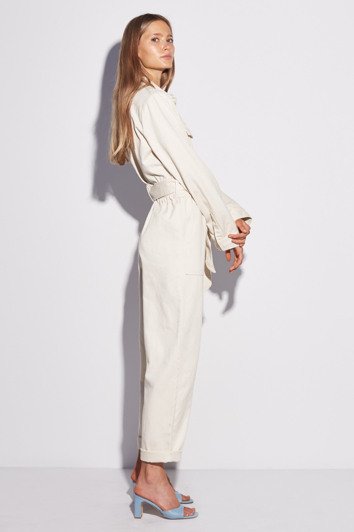 REITERATE JUMPSUIT chalk
