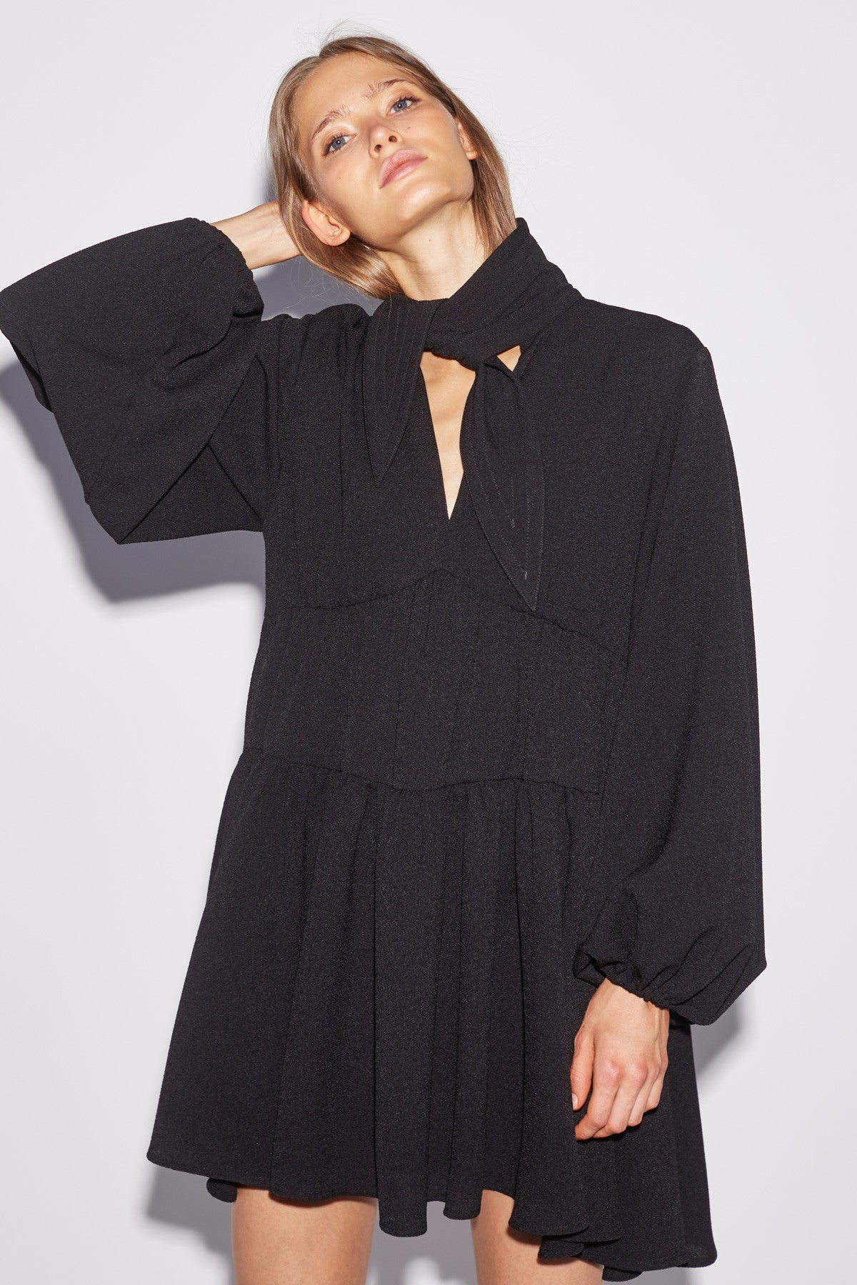 CHAPTER ONE LONG SLEEVE DRESS black