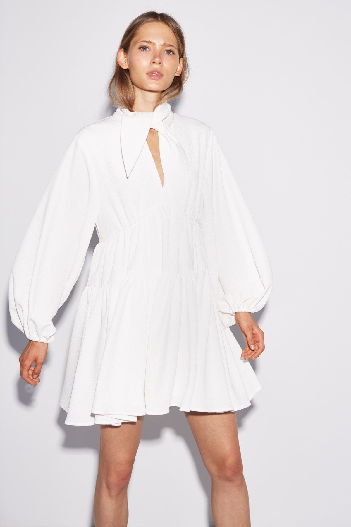 CHAPTER ONE LONG SLEEVE DRESS ivory