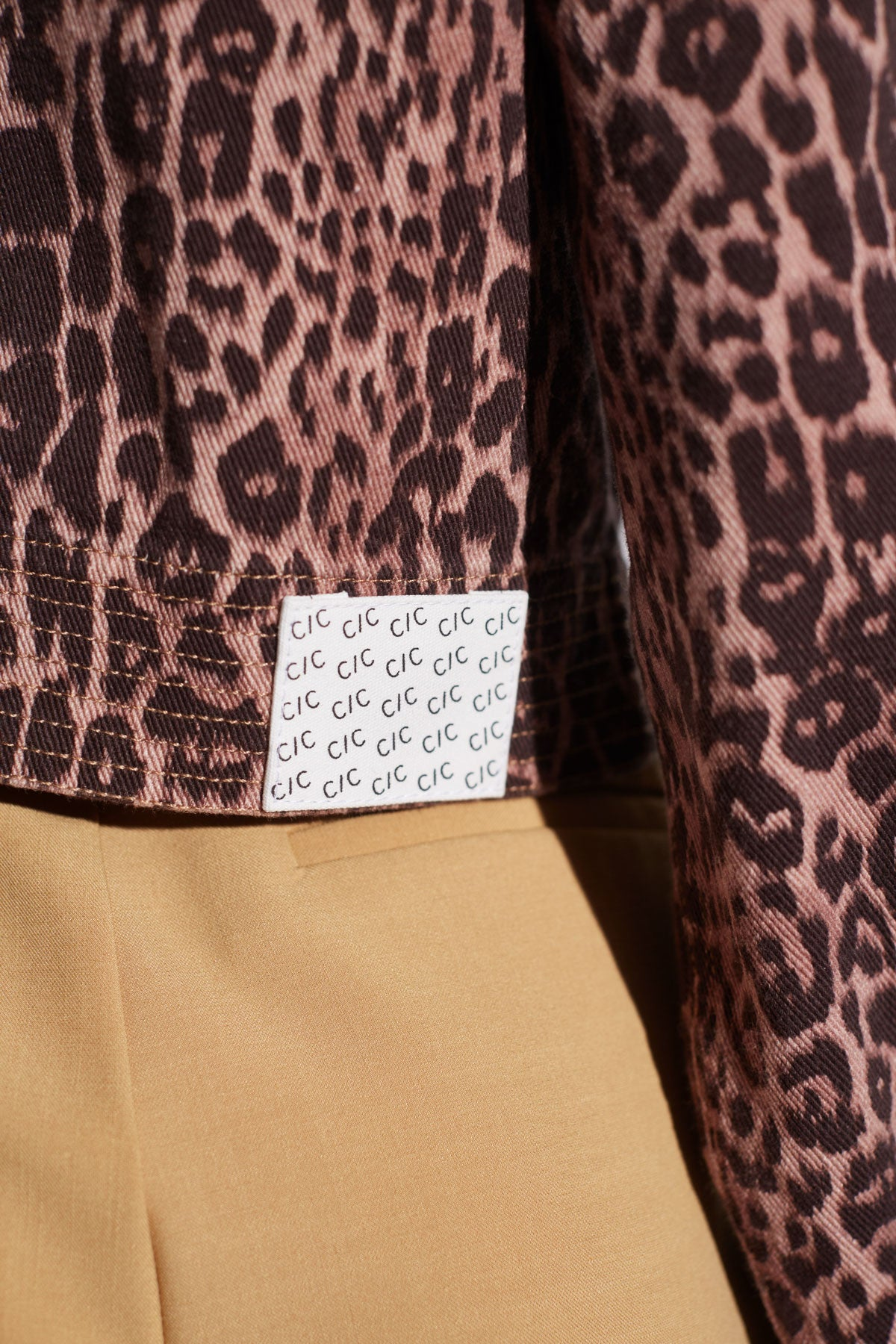 REITERATE JACKET brown leopard