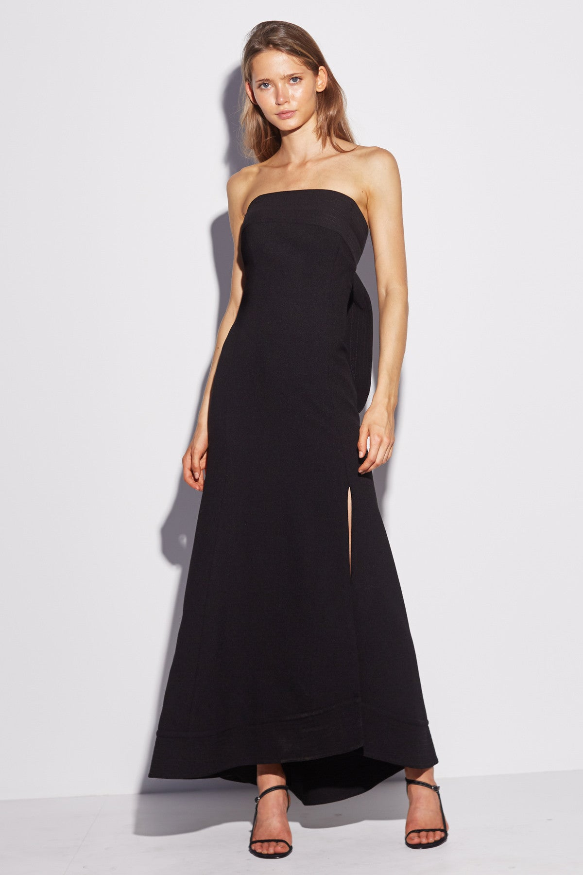 CHAPTER ONE STRAPLESS GOWN black