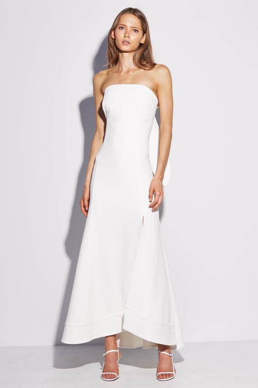 CHAPTER ONE STRAPLESS GOWN ivory