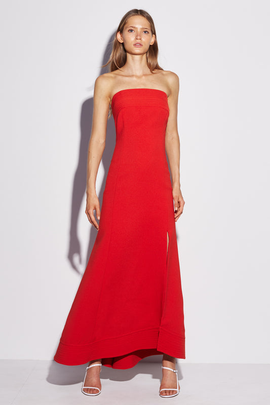 CHAPTER ONE STRAPLESS GOWN cherry