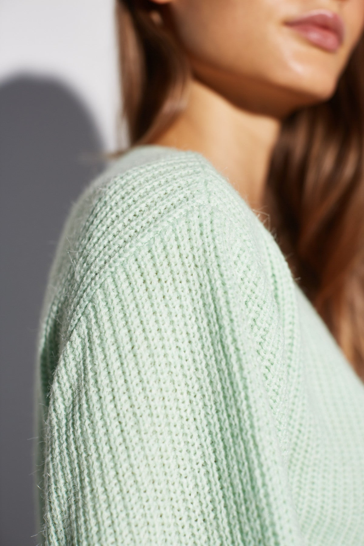 ANOTHER LEVEL KNIT TOP mint