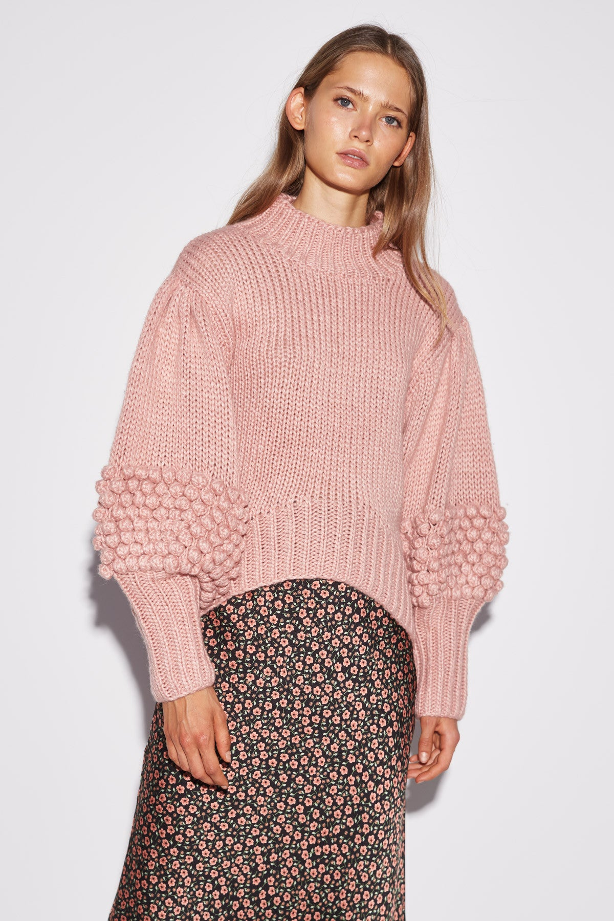 HOLD TIGHT KNIT JUMPER pink