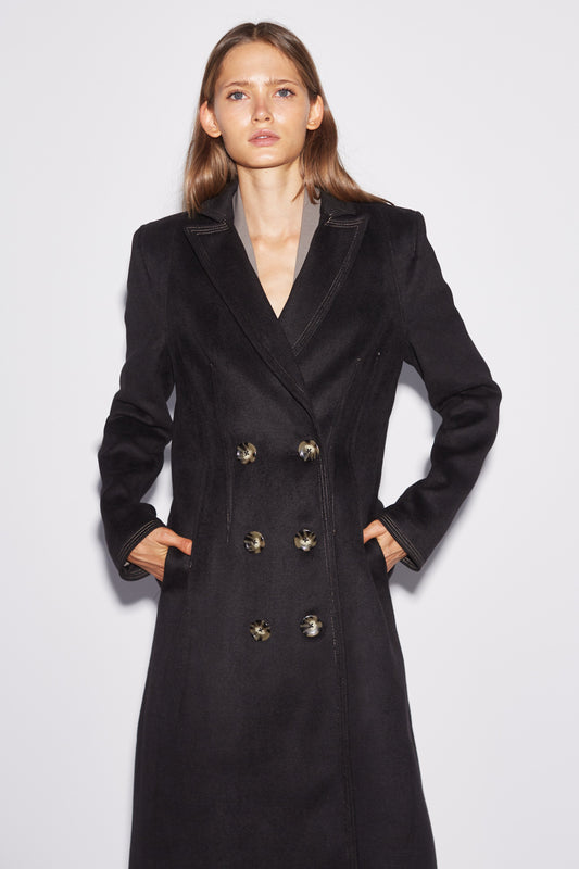 LOW KEY COAT black