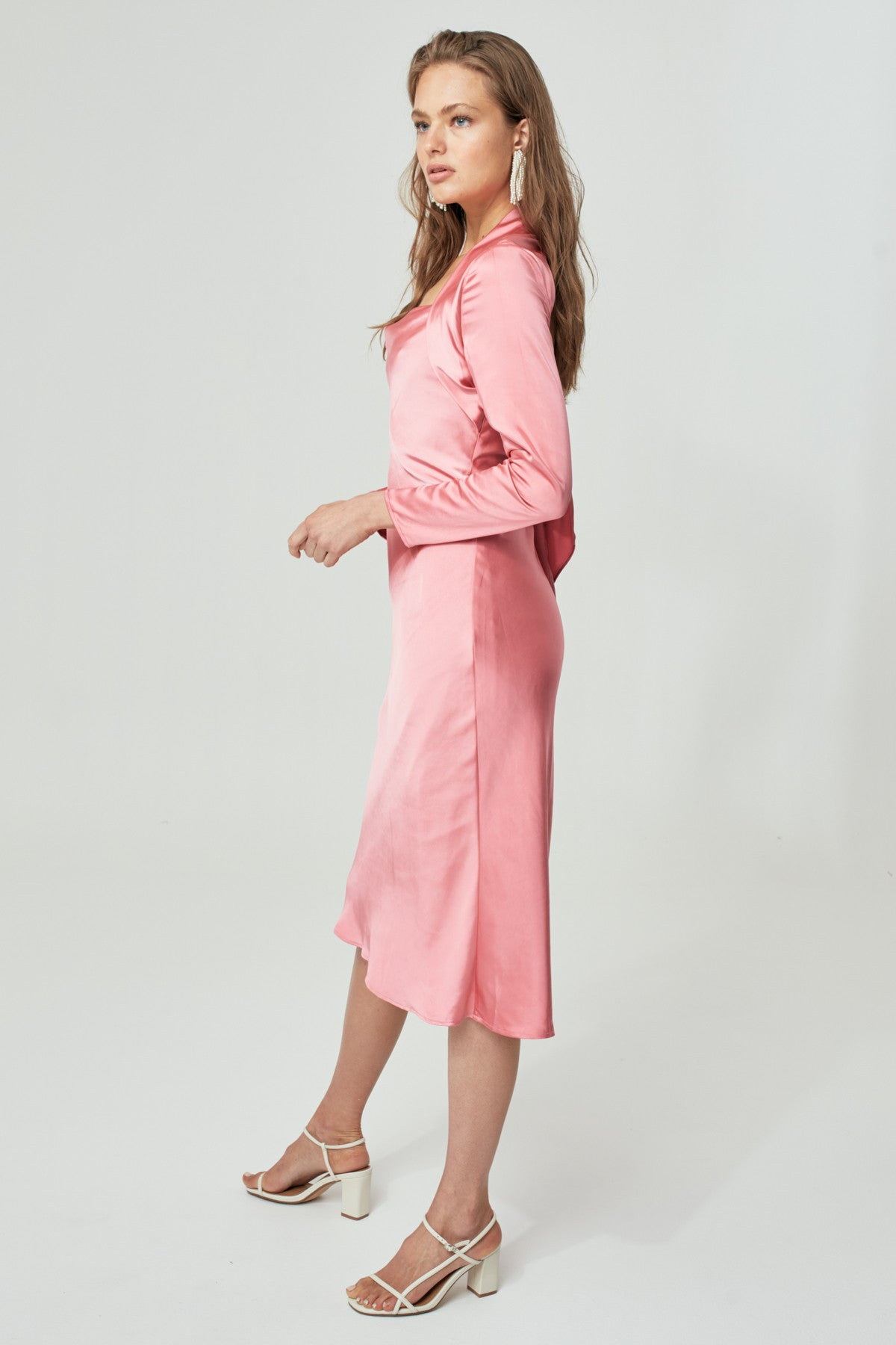 TIME FLEW LONG SLEEVE DRESS hibiscus