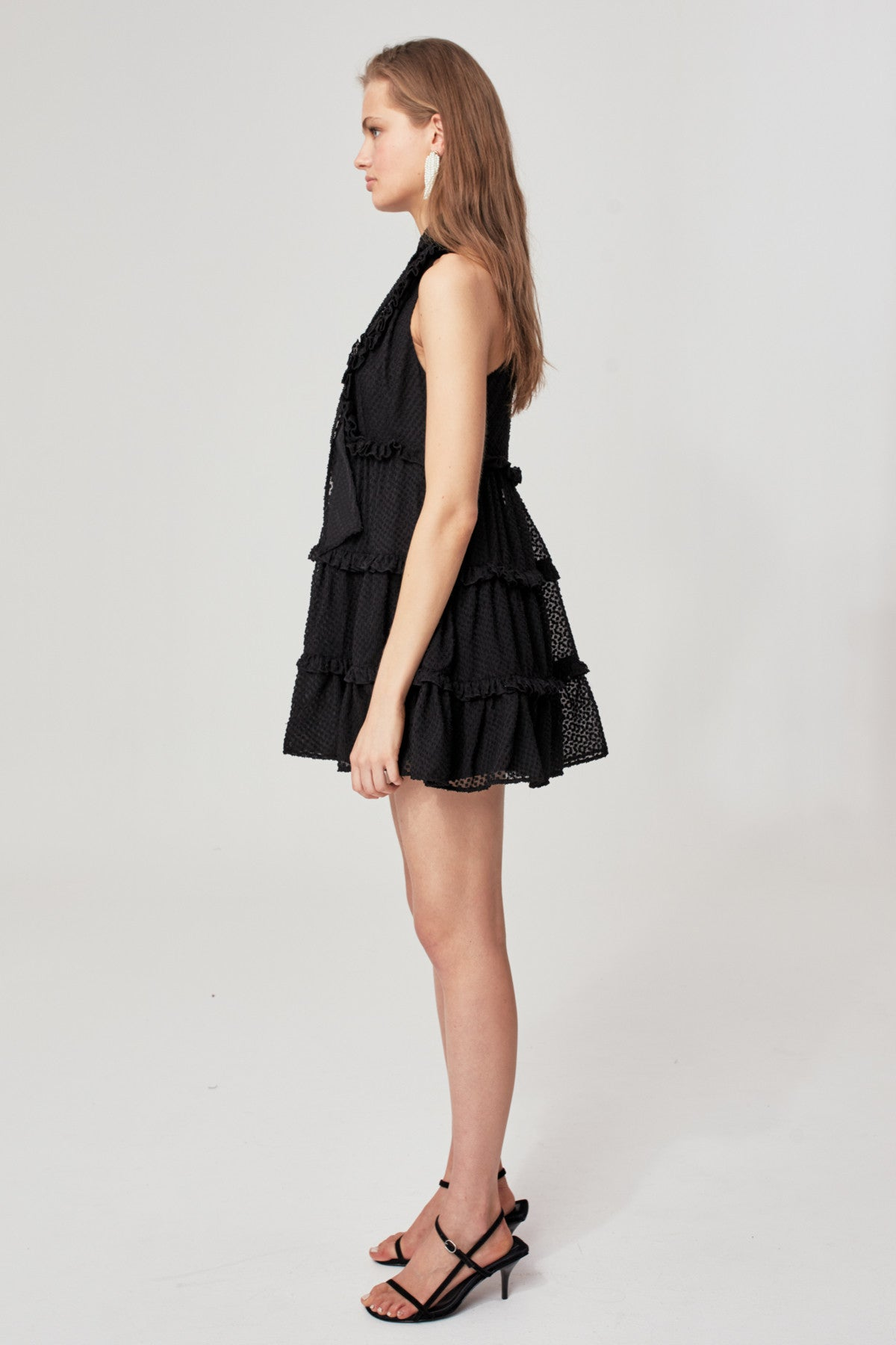 BREAK IN TWO SHORT SLEEVE DRESS black