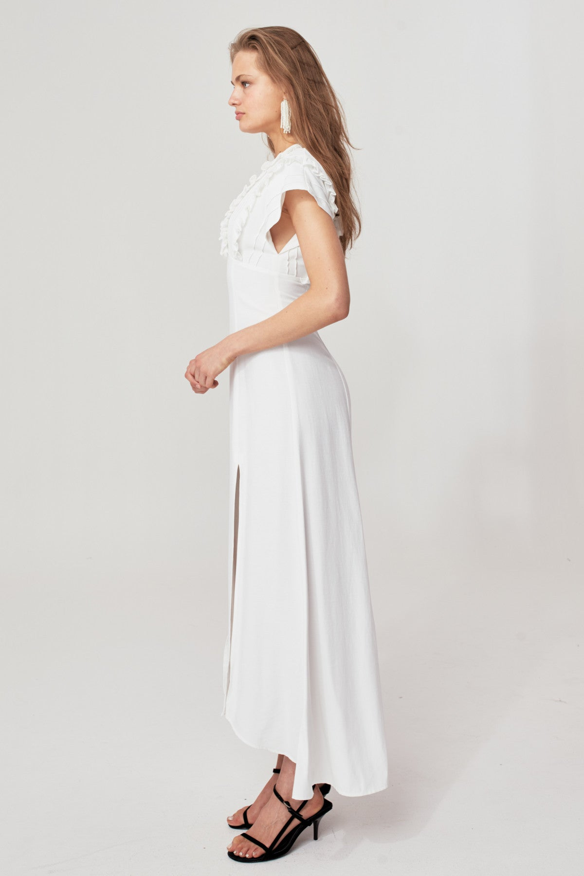 BREAK IN TWO GOWN ivory