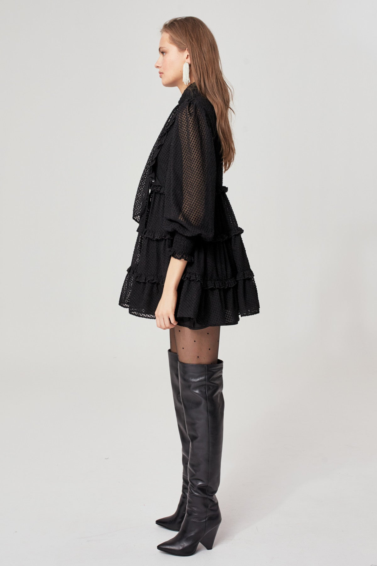 BREAK IN TWO LONG SLEEVE DRESS black