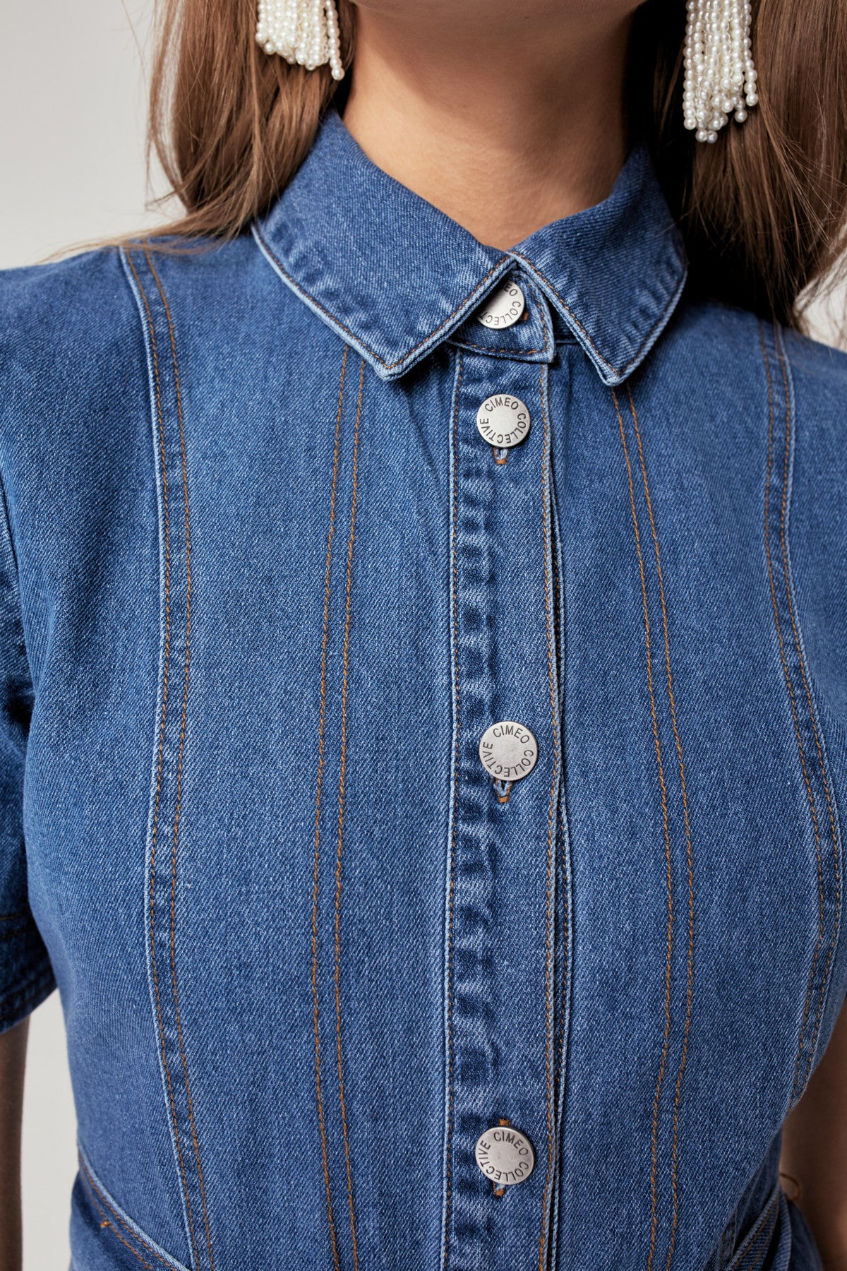 LIFETIME DRESS blue denim