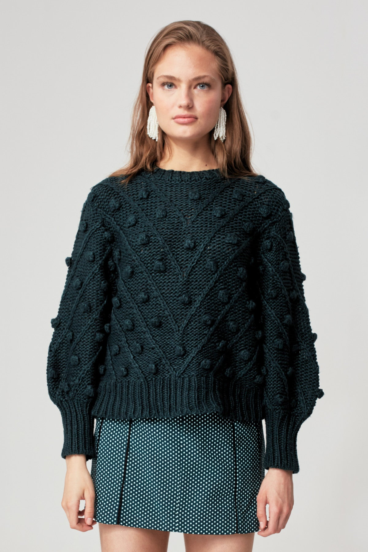 TRADE PLACES KNIT JUMPER forest