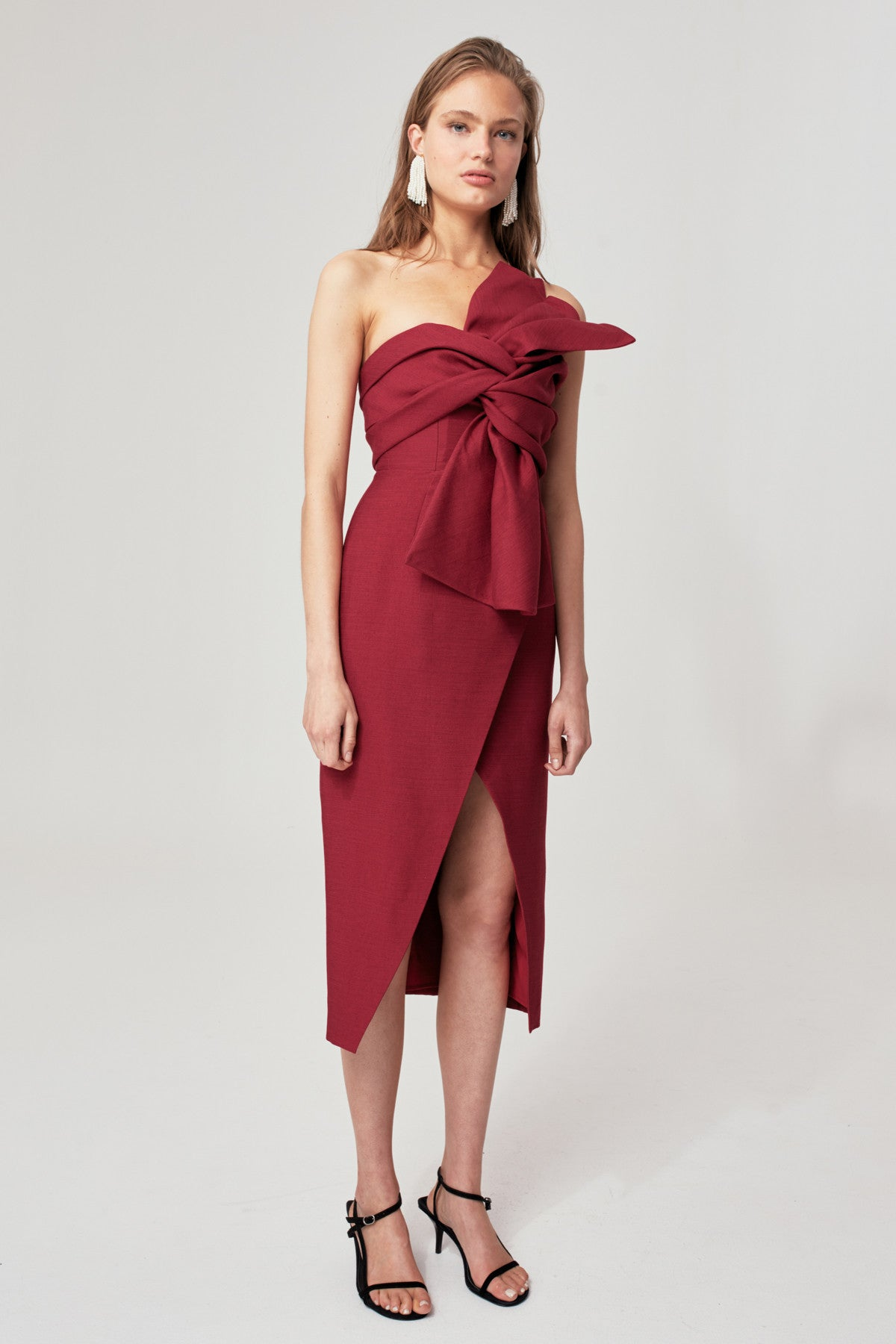 EACH OTHER MIDI DRESS berry
