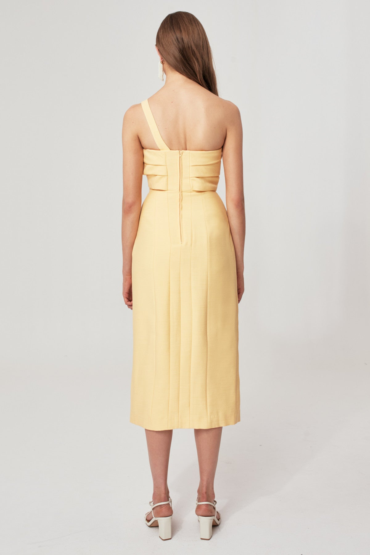 EACH OTHER MIDI DRESS butter