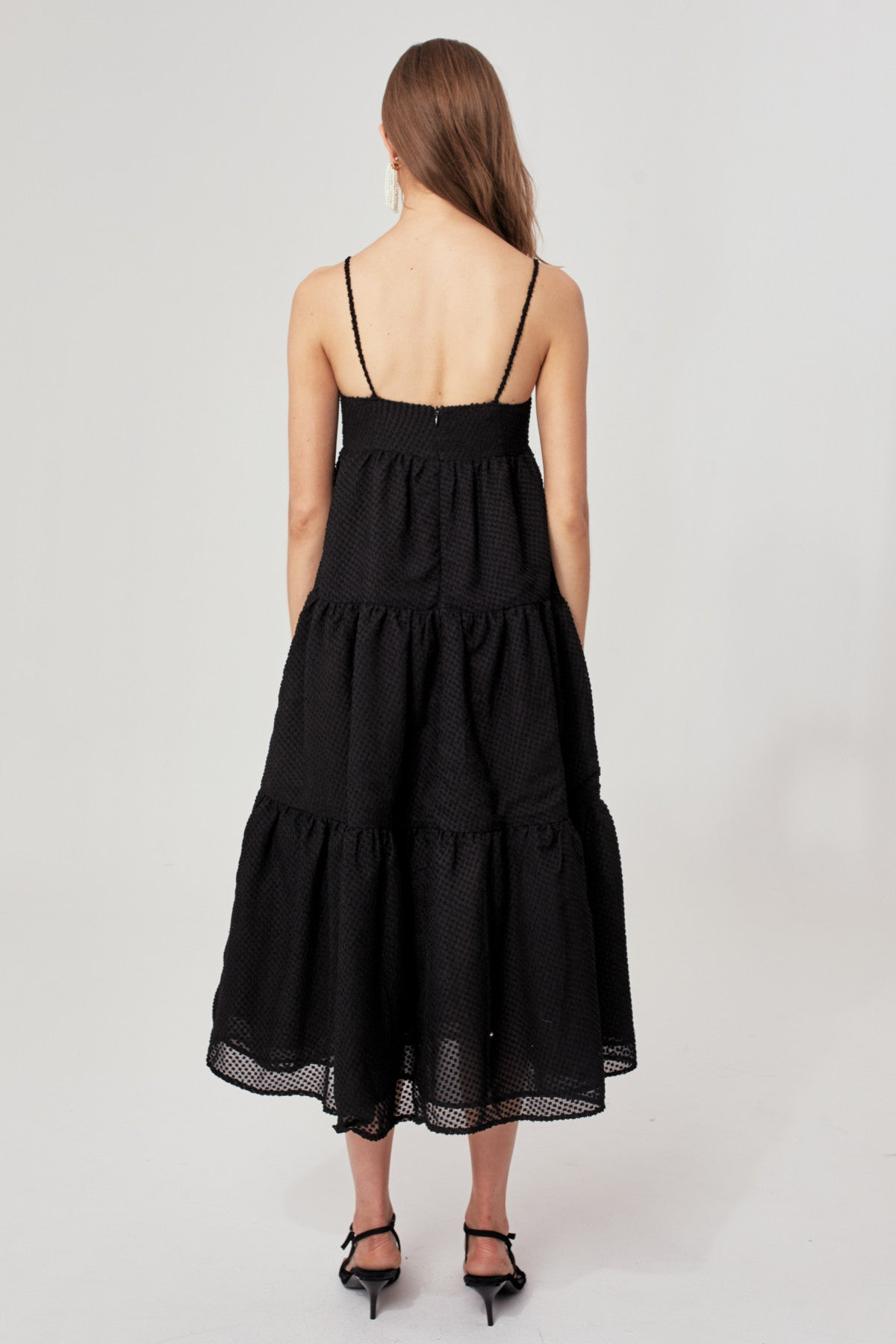 BREAK IN TWO MAXI DRESS black