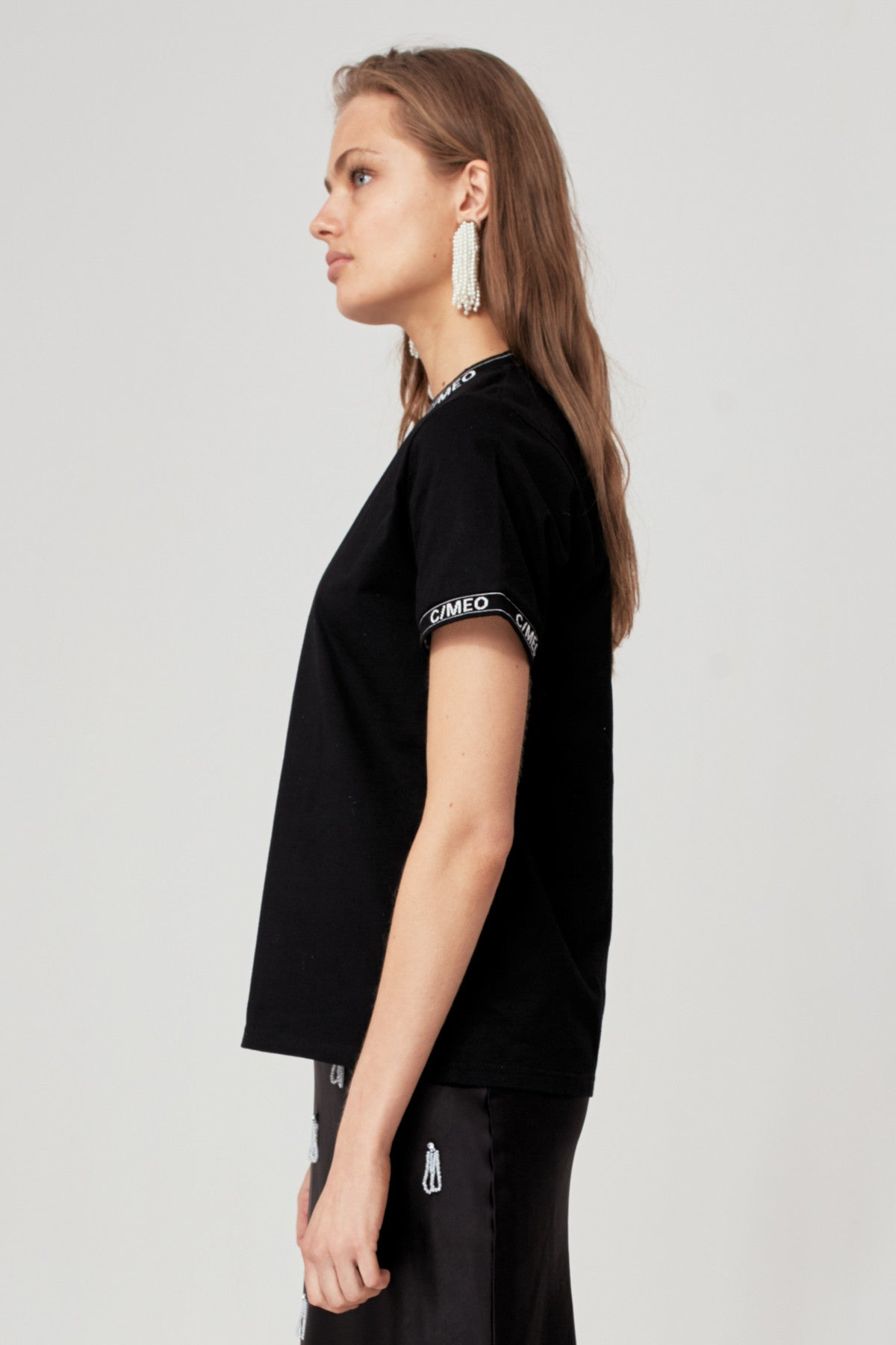 EPISODE T-SHIRT black w ivory