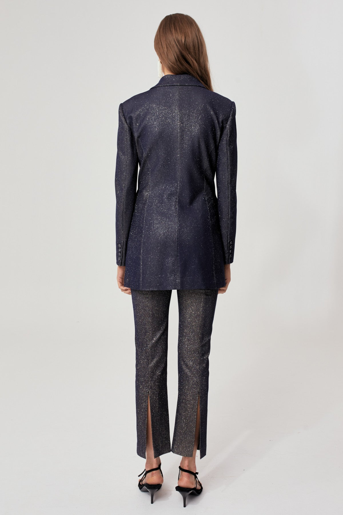 BY NIGHT PANT navy metallic
