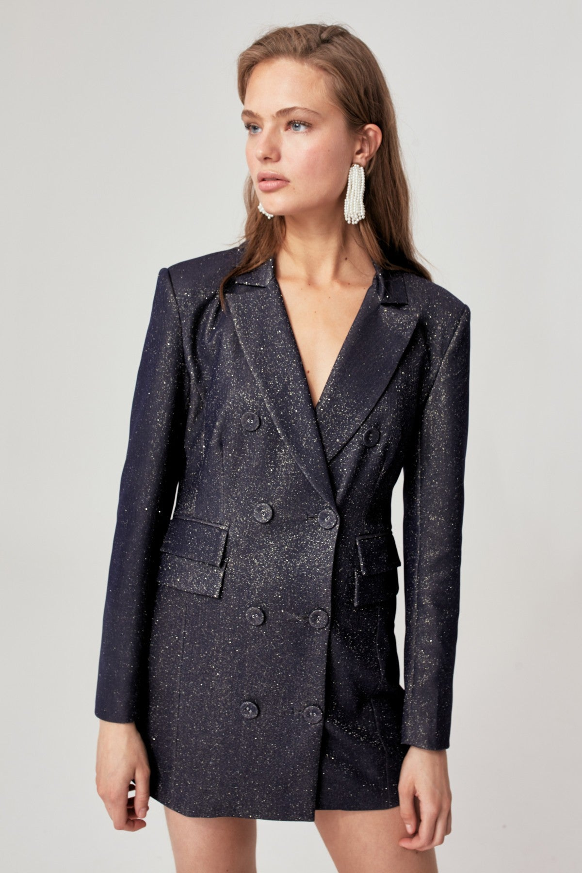 BY NIGHT BLAZER navy metallic