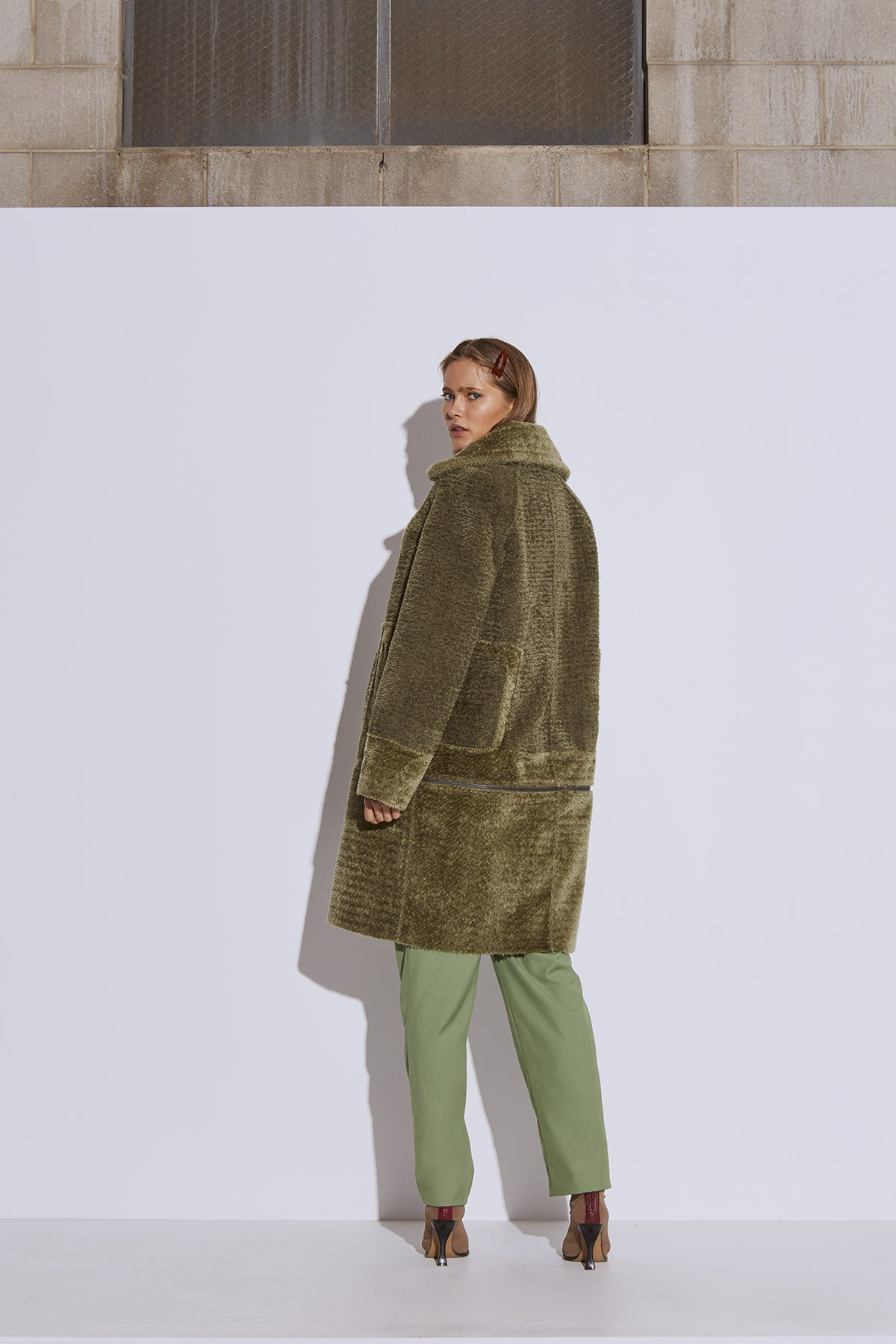 LOVE FOR ME COAT cedar green