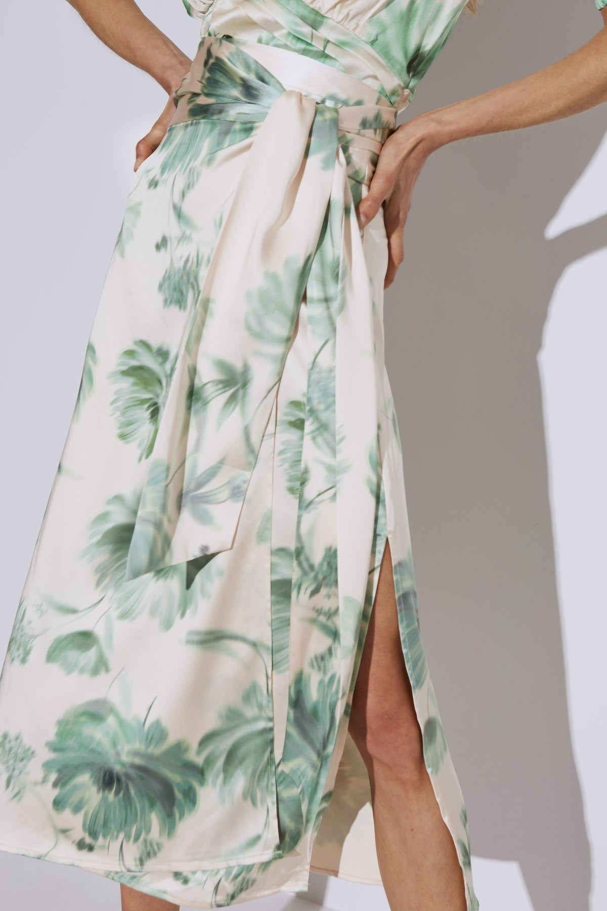 IN BLOOM SKIRT cream washed floral