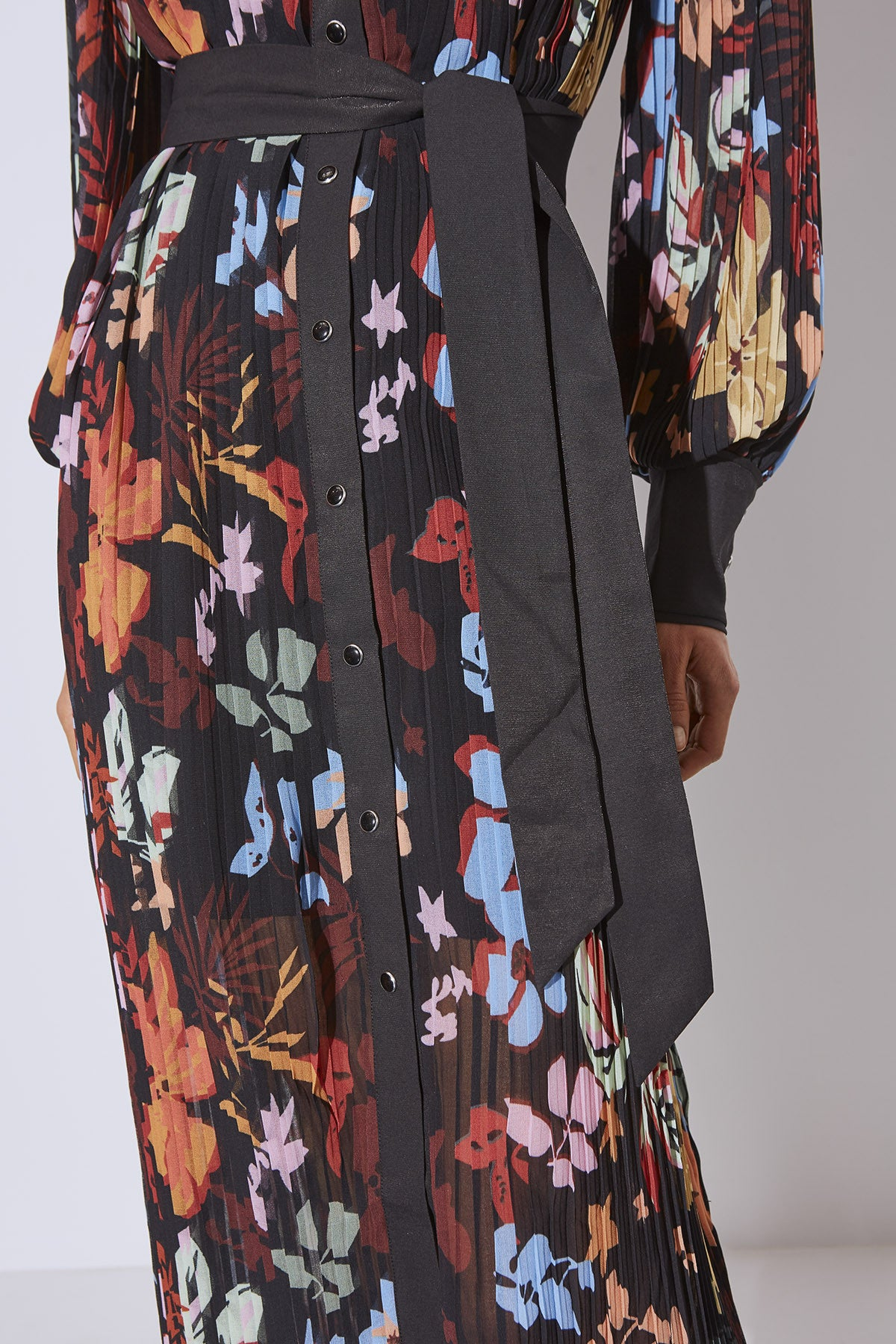 WITH OR WITHOUT DRESS black abstract floral